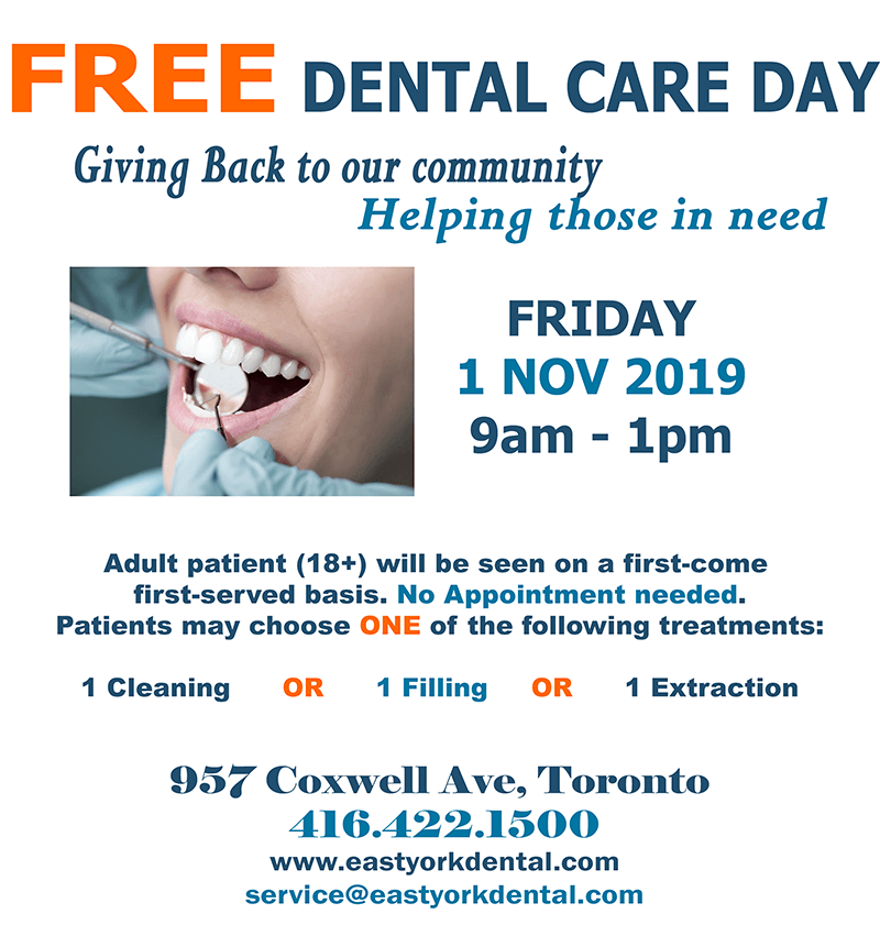 Free Dental Care Day - East York Dental Center