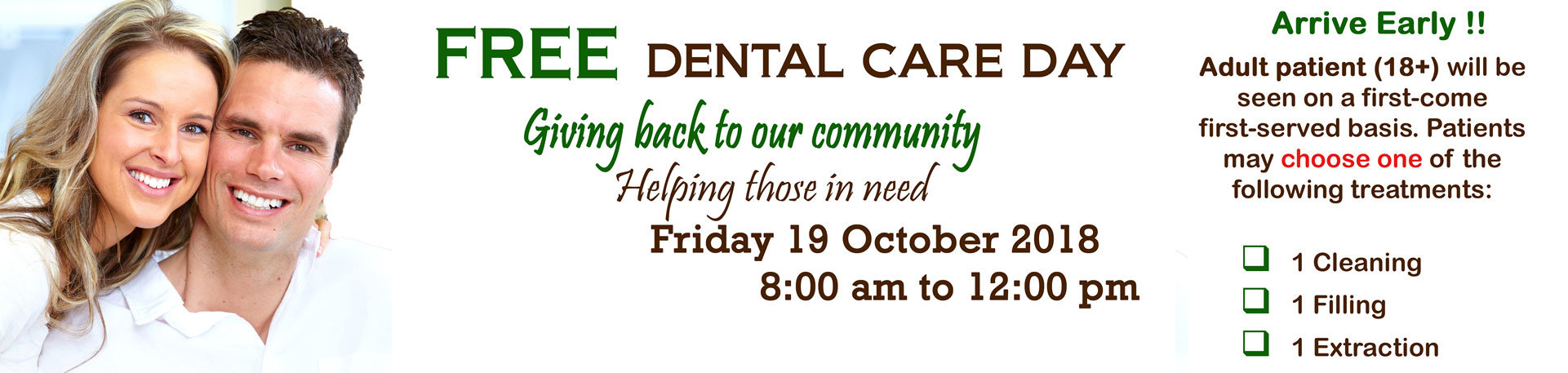 Free Dental Care Day by East York Dental